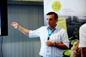 """""""Fans zu Markenbotschaftern machen"""" – so lautete der Vortrag von Michael Witzorrek, Projektmanager Merchandising der NDR Media GmbH"""